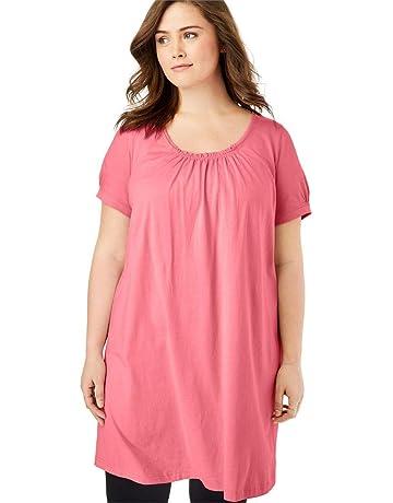 8b85d100729 Woman Within Women s Plus Size Perfect Shirred U-Neck Tunic