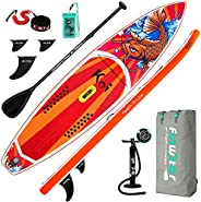 """FunWater SUPInflatable Stand Up Paddle Board 11'6""""/11'x33 x6 Ultra-Light ISUP with Paddleboard A"""