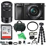 Sony Alpha a6000 Mirrorless Camera w/16-50mm & 55-210mm Lenses & 128GB + DigitalAndMore Deluxe Bundle