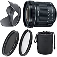 Canon EF-S 10-18mm f/4.5-5.6 IS STM Lens Bundle For Canon EOS 7D , 60D EOS Rebel SL1 , T1i ,T2i ,T3 , T3i , T4 ,T5 ,T5i ,XS, XSi ,XT ,XTi + UV & Polarizer+ Top Value