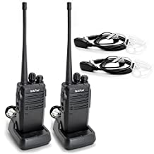 TalkPod Walkie Talkies Long Range UHF 400-470 MHz Signal Frequency Single Band 16 Channels Two-Way Radio(Pack of 2)
