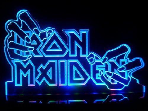Iron Maiden Hands LED Desk Lamp Night Light Beer Bar Bedroom Signs