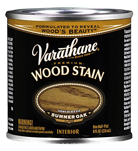 "Rust-Oleum 211756 Stain, Summer Oak, 1/2"", Half Pint, Multicolor"