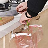 Convenient plastic bag hook for cabinet garbage bag hanger