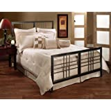 Hillsdale Furniture 1334BQR Tiburon Bed Set with Rails, Queen, Magnesium Pewter