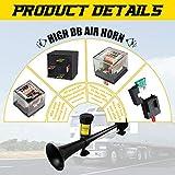 GAMPRO 12V 150db Air Horn, 18 Inches Chrome Zinc