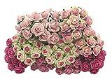 Handmade 100 pcs mini Rose mixed Pink color