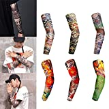 Arm Cooling Sleeves, Leegoal 6 Pack UV Protection Sunblock Sports Arm Sleeves Tattoo Skin Protective Sleeves for Men Women for Hiking/Cycling/Driving/Basketball/Volleyball & Outdoor Activities, Bright Color