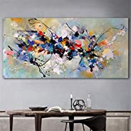 BFSA Pinturas sobre Lienzo Arte de Pared Cuadros Abstractos para Sala de Estar Dormitorio Pintura Decorativa M