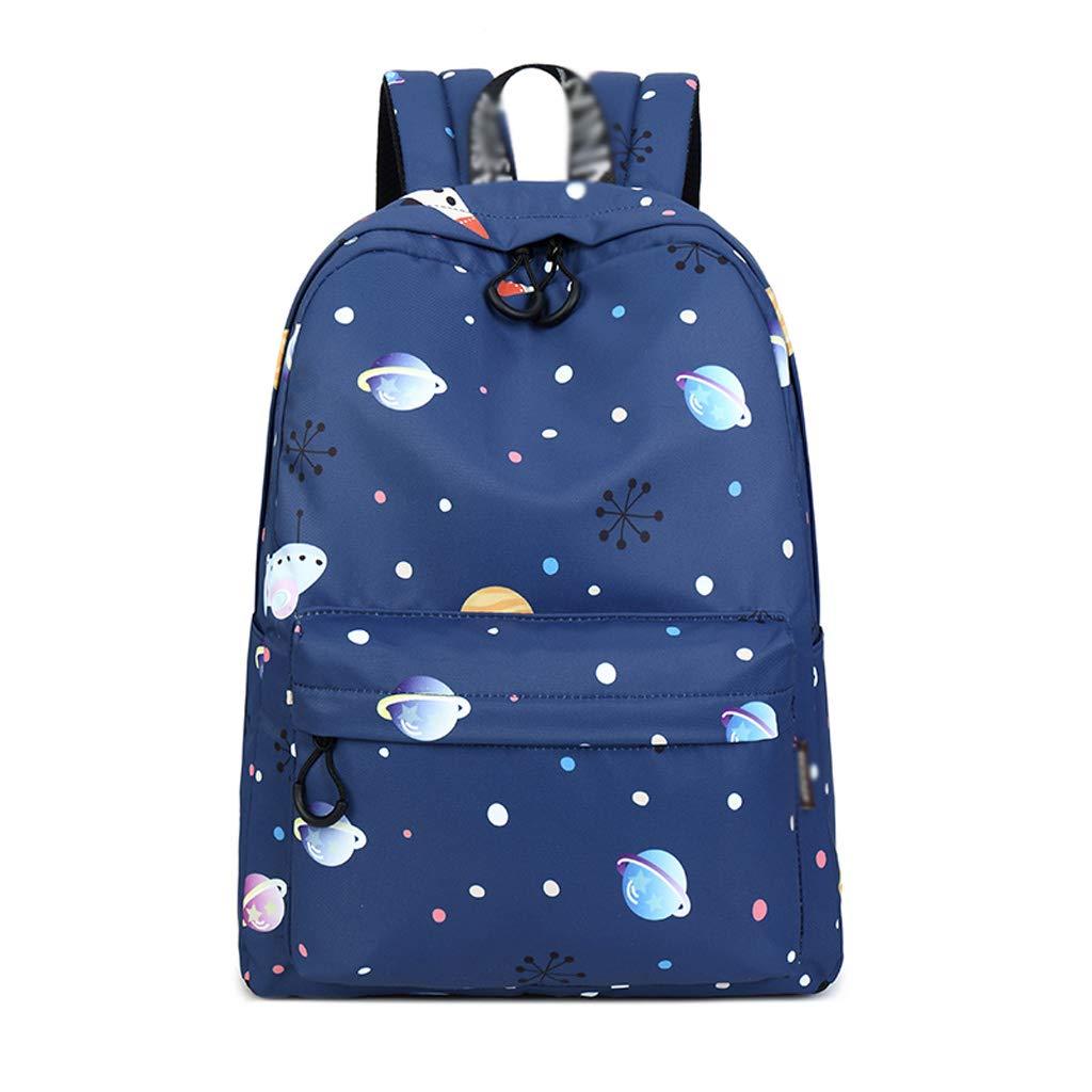 DS-borsa da scuola Zaino - Zaino per Studenti di liceo Impermeabile di Grande capacità, Borsa per Studenti Borsone per Viaggi di Svago per Zaino di Stampa misteriosa (42.5x30.5x13.5cm) &&