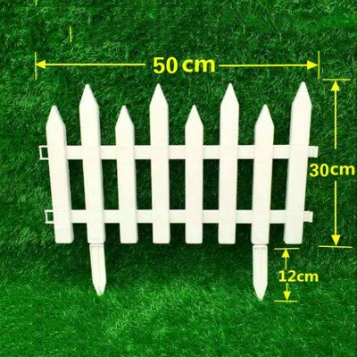 Shoppy Star 5PCS Set plastica recinzioni Facile da assemblare Bianco Stile Europeo Inserto Ground Tipo plastica recinzioni per Giardino Countryyard Decor  42 x 50 cm