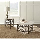 Roland End Table w/Bronze Frame