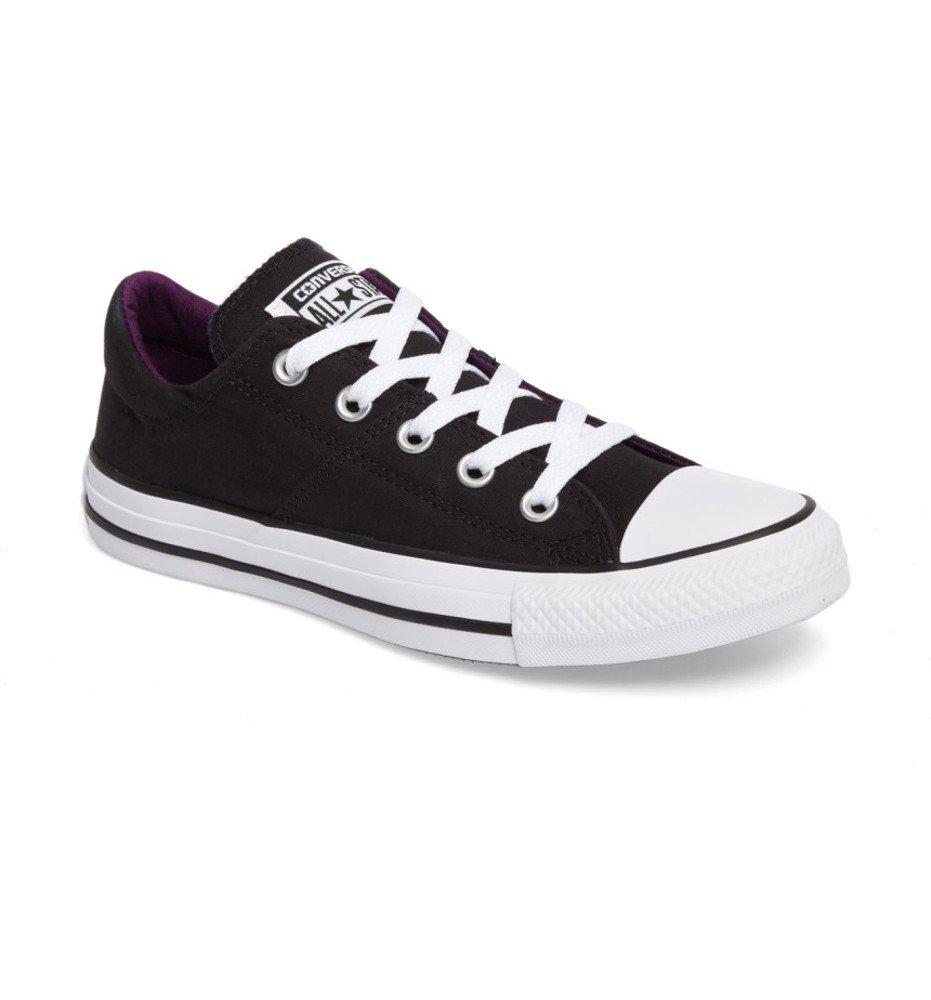 Converse Women's Madison Leather Low Top Sneaker B06XHQDJHB 6 M US|Winter Black Purple