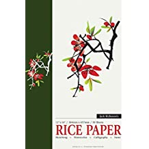Jack Richeson Acid-Free Rice Paper Pad, 12 by 18-Inch, 50 Sheets