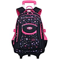 d90b230390 Rolling Backpack, COOFIT Wheeled Backpack School Kids Rolling Backpack With  Wheels