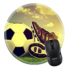 MSD Natural Rubber Mousepad IMAGE ID 33242002 Vintage soccer background with ball and cleats