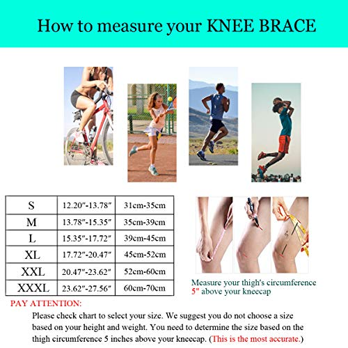 NEENCA Knee Brace,Knee Compression Sleeve Support with Patella Gel Pad & Side Spring Stabilizers,Medical Grade Knee Protector for Running,Meniscus Tear,Arthritis,Joint Pain Relief,ACL,Injury Recovery