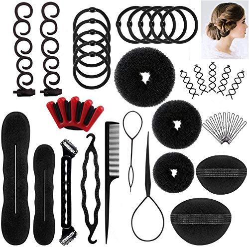 Kit De Accesorios Para El Cabello De Mujer Bricolaje Proyectos DIY Agujas Pins.