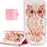 iPhone 6S Plus Case,iPhone 6 Plus Case,ikasus Glitter Diamond Colorful Painted PU Leather Flip Wallet Pouch Stand...