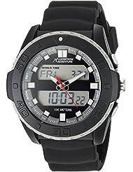 Armitron Adventure Mens AD/1009BLK Analog-Digital Chronograph Multi-Function Black Silicone Strap Sport Watch