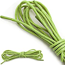 """DailyShoes Women's Round Waxed Shoelaces Oxford Flat Dress Canvas Sneaker Shoe Laces (27"""" 36"""" 45"""" 54"""" 60"""" 78"""") Unisex Strings"""