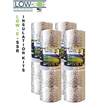 """4 PACK Wholesale Lot: ESP Low-E® SSR Reflective Foam Core Insulation Kit: 4 Rolls (Size 24""""x25') Includes 25' Foil Tape per roll, Knife & Squeegee. Multipurpose Home Insulation For Your Building Project or Just Every Day Household Needs."""