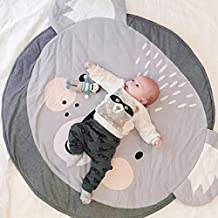 Makaor Cartoon Baby Infant Creeping Mat Playmat Blanket Play Game Mat Room Decoration Crawling Activity Mat Carpet Floor Home Rug Unisex Gift (Diameter: Approx 94cm/37 Inch, # C)