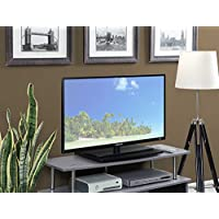 Convenience Concepts Designs2Go Single Tier TV Swivel Board for Flat Panel TVs Up to 20-Inch or 60-Pounds, Black