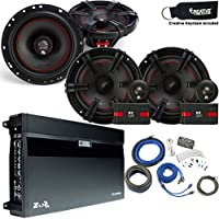 MB Quart Speaker package - ZA2-1600.4 Amp, a Pair of XC1-216 6.5 Components, a pair of XK1-116 6.5 Coaxials & Wire Kit