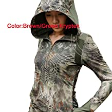 ATAirsoft(TM) 5 Colors Tactical Military Hunting Combat Hiker Women BDU With Hat Long Sleeve Shirt /coat, Typhon /Mandrake Kryptek/Highlander/Brown Green Kryptek/Nomad kryptek