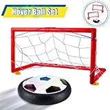 EFOSHM Hover Soccer, Kids Toys Air Power Hover Football, Kids Soccer Set Hover Ball 2 Goals Sports Training, Indoor Outdoor Hover Ball LED Lights Toys Boys Girls Gifts