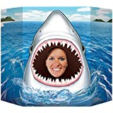 Beistle Shark Photo Property, 3-Feet 10-Inch by 25-Inch, Multicolor