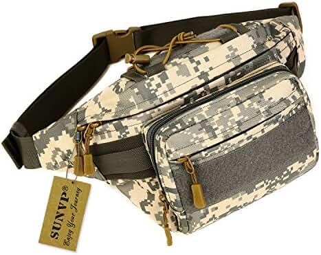 Huntvp Military Fanny Pack Tactical Waist Bag Pack Waterproof Hip Belt Bag Pouch for Hiking Climbing Outdoor Bumbag