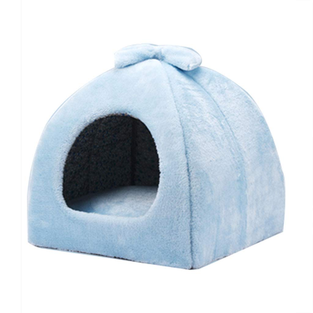 bluee 424243cm bluee 424243cm YANQ Soft Indoor Small Dog Houses Sponge Material Portable And Great For Transportation And Short Outings (color   bluee, Size   42  42  43cm)