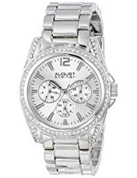 August Steiner Women's AS8075SS Analog Display Japanese Quartz Silver Watch
