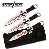 Perfect Point Throwing Knives - Set 3 couteaux de lance Trowing knife Biker housse transport - PP0203