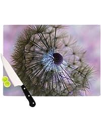 Bargain Kess InHouse Alison Coxon Dandelion Clock Artists Cutting Board, 11.5 by 15.75-Inch deal