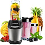 'COSORI Professional High Speed Blender, 9-Piece Portable Personal Kitchen Single Serve Blenders for Shakes and Smoothies Heavy Duty Ice and Juice with Travel Sport Bottles and 3 Tritan BPA-Free Cups' from the web at 'https://images-na.ssl-images-amazon.com/images/I/51+OdJGvKGL._AC_SR160,160_.jpg'
