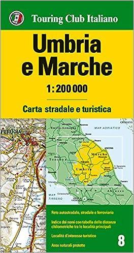 Cartina Stradale Umbria Toscana.Amazon It Umbria Marche 1 200 000 Ediz Multilingue Aa Vv Libri In Altre Lingue