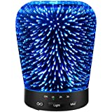 Aromatherapy Oil Diffuser, SZTROKIA 180ml Essential Oil Ultrasonic Cool Mist Humidifier with 3D 14 Color Changing...