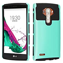 LG G4 Case, iMusi 2IN1 Shockproof Dual Layered Protective Cover Case Skin for LG G4 - Mint Green/Black