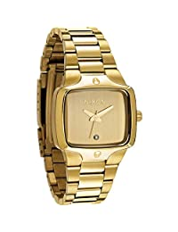 Nixon Women's SMALL PLAYER A300-511 Gold Stainless-Steel Quartz Watch with Gold Dial