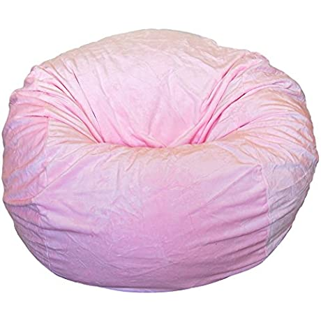 Ahh Products Cuddle Minky Pink Washable Large Bean Bag Chair
