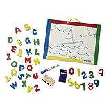 Melissa & Doug Magnetic Chalkboard and Dry-Erase Board With 36 Magnets, Chalk, Eraser, and Dry-Erase Pen