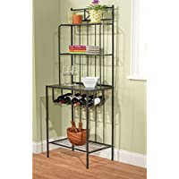 Kitchen Storage Rack That Is Simple Yet Elegant with Plenty of Storage Area