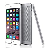 iPhone 6s Plus Case, LoHi Apple iPhone 6 Plus Case [Ultimate Slim] Mesh Lightweight Durable Bumper Cover Case for iPhone 6s/6 Plus 5.5 Inch (Silver)