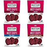 Rhythm Superfoods Beet Chips, Variety Pack, Non-GMO, 1.4 Oz (Pack of 4), Vegan/Gluten-Free Superfood Snacks
