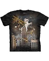 The Mountain King Kitten Adult T-Shirt, Black, Medium