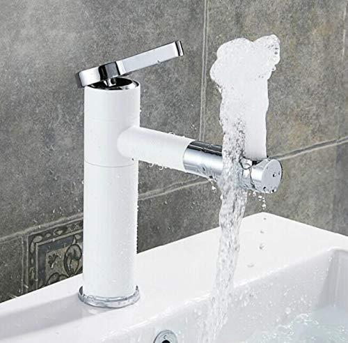 D Bathroom Sink Tap Hot Cold Faucet Washbasin Single Handle 360 Degree redation All Copper Black Faucet Single Hole Basin Hot and Cold redating Faucet,D