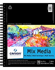 """Canson Artist Series Mix Media Pad, 9"""" x 12"""", Side Wire Bound, 30 Sheets (400059774)"""